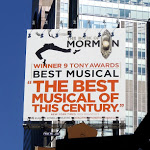 Book of Mormon billboard NYC