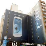 Giant Samsung Galaxy S3 billboard NYC Aug 2012