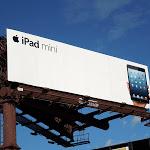 Black iPad mini billboard ad