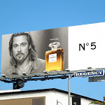 Brad Pitt Inevitable Chanel No5 fragrance billboard