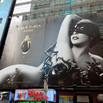 Giant Lady Gaga Fame fragrance billboard Times Square