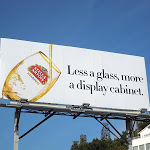 Less glass more display cabinet Stella Artois billboard