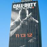 Giant Call of Duty Black Ops II video game billboard