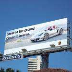 Closer to heaven Porsche Boxster billboard