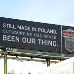 Sobieski vodka outsourcing billboard