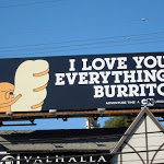 Adventure Time I love you everything burrito billboard
