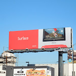 Surface tablet skateboard billboard