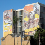 Giant Borderlands 2 billboards Sunset Strip