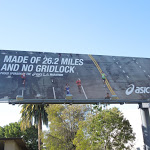 Asics Made of 26 miles no gridlock billboard