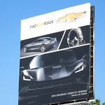 2014 Chevrolet Corvette Stingray Find New Roads billboard