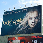 Giant Les Miserables Young cosette movie billboard
