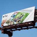iPad 3 motorbike billboard