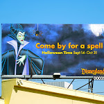 Maleficent Disney Halloween spell billboard